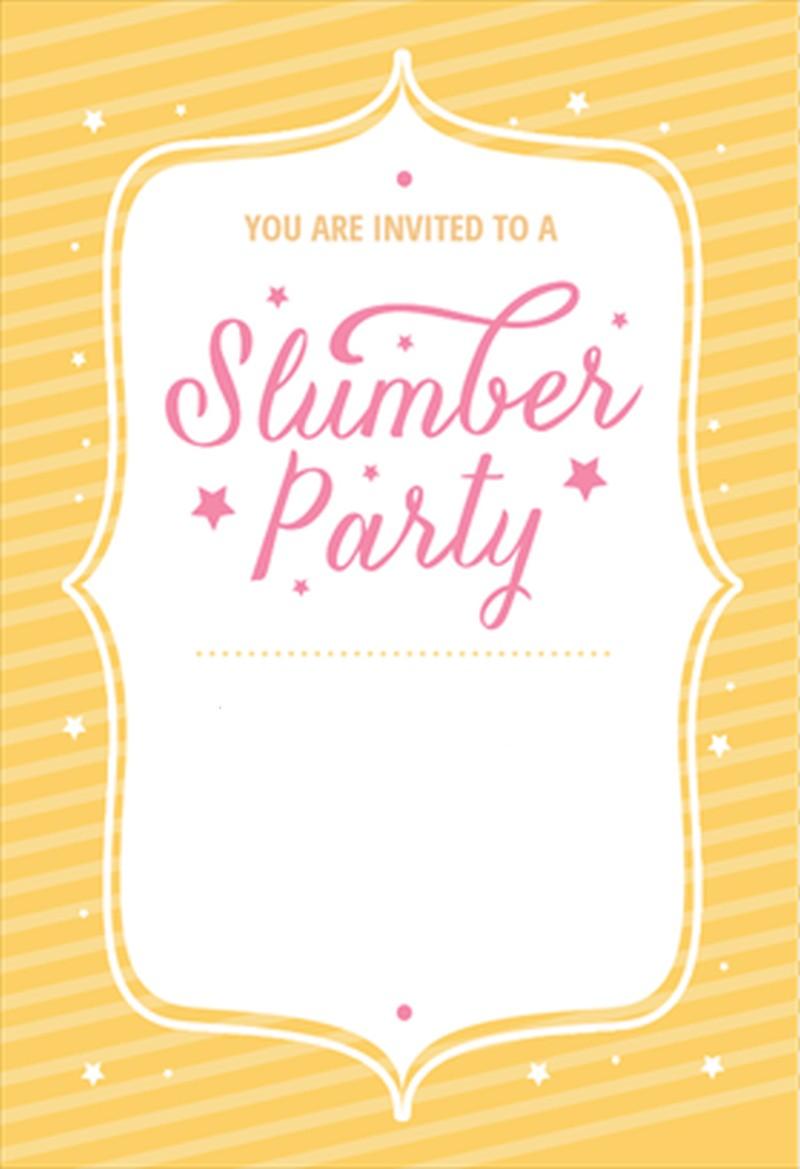 Slumber party invitation template 2