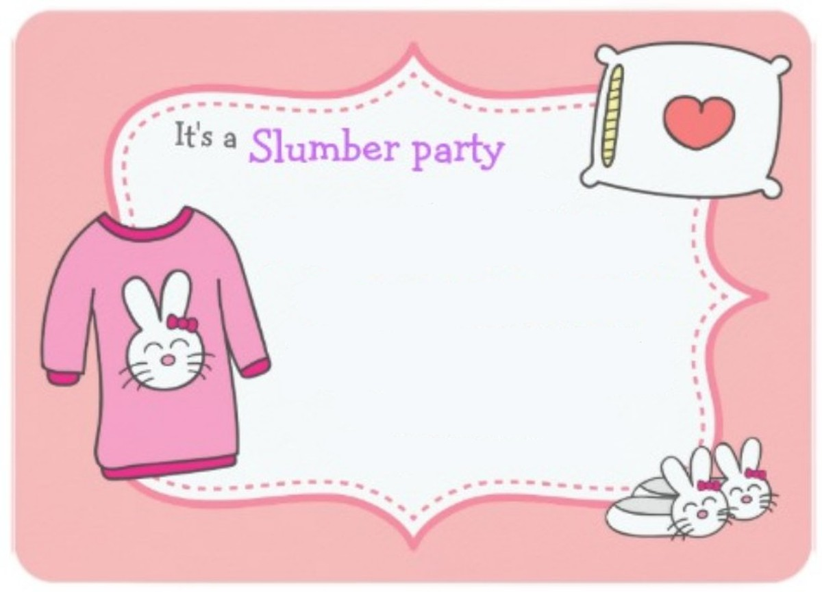 Slumber party invitation template – Sleepover Party Invitations Templates