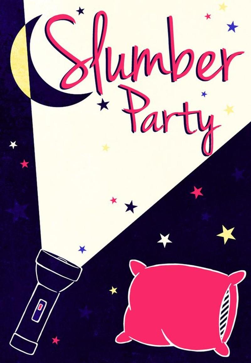 Slumber party invitation