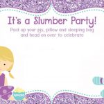 slumber birthday party invitation 150x150