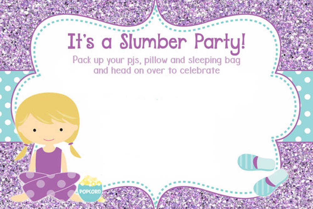 The best of sleepover invitations slumber birthday party invitation stopboris Image collections