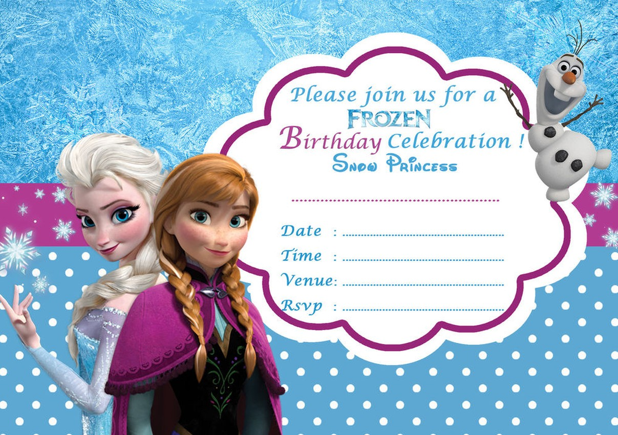 Disney Frozen Birthday Party Invitation Template Invitations Online - Party invitation template: frozen birthday party invitation template