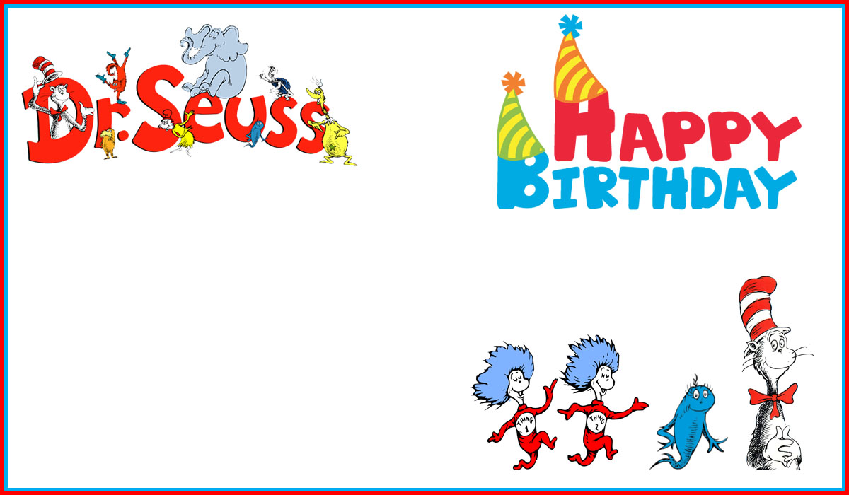 Birthday party invitation templates choice image for Dr seuss birthday card template