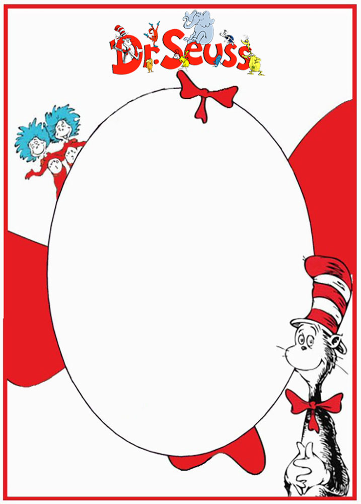 Dr Seuss Free Invitation Card