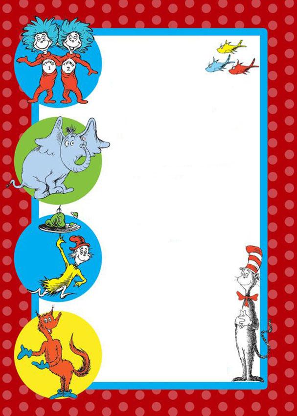 Dr Seuss Free Printable Invitation Templates Invitations