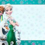 Green Frozen Invitation Card 150x150
