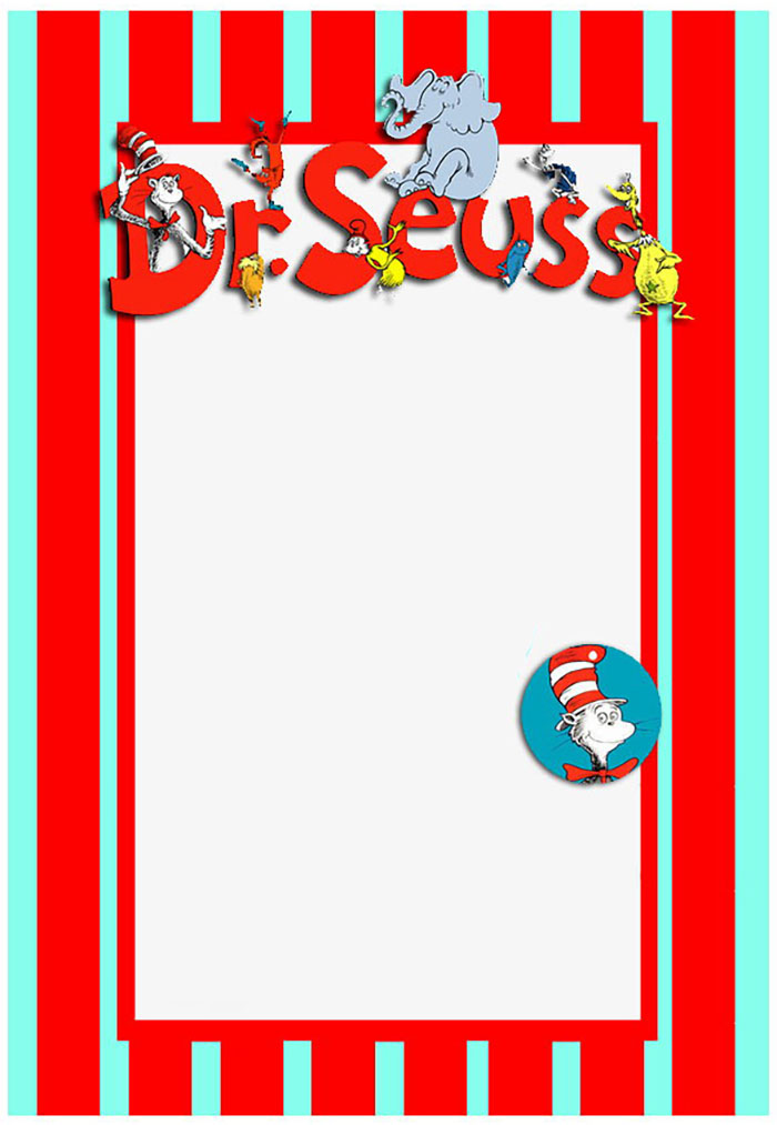 Printable Dr Seuss Invitation Template