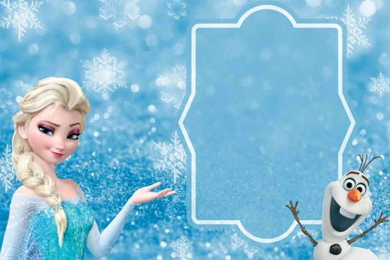Printable Frozen Invitation