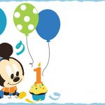 Free Printable Baby Mickey Mouse Invitation 150x150
