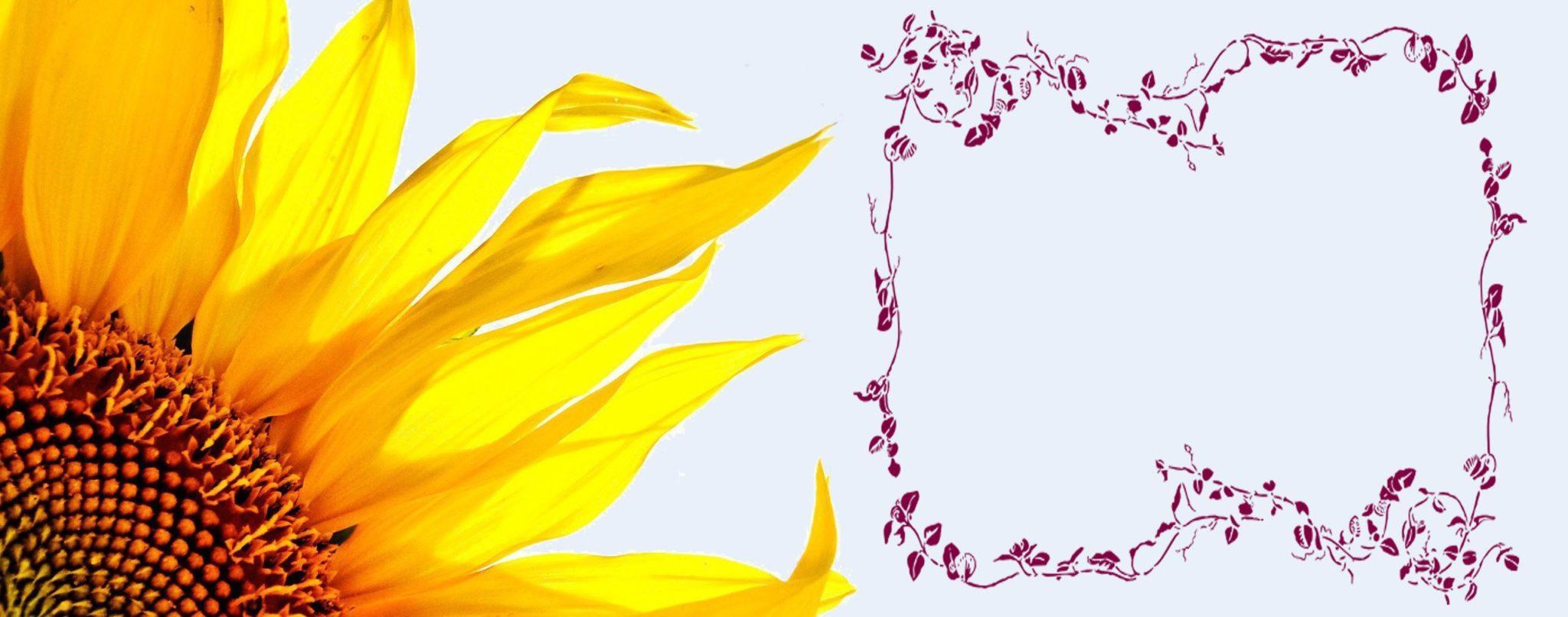 Free Printable Sunflower Wedding Invitation