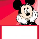 Mickey Mouse Party Invitation Card 150x150