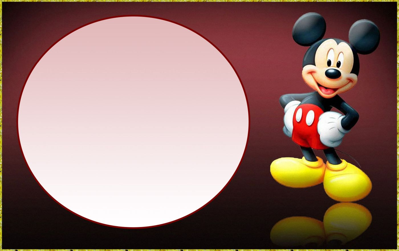 Charmant Printable Free Mickey Mouse Invitation