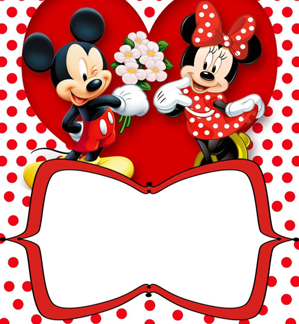 Printable Minnie Mickey Mouse Birthday Invitation