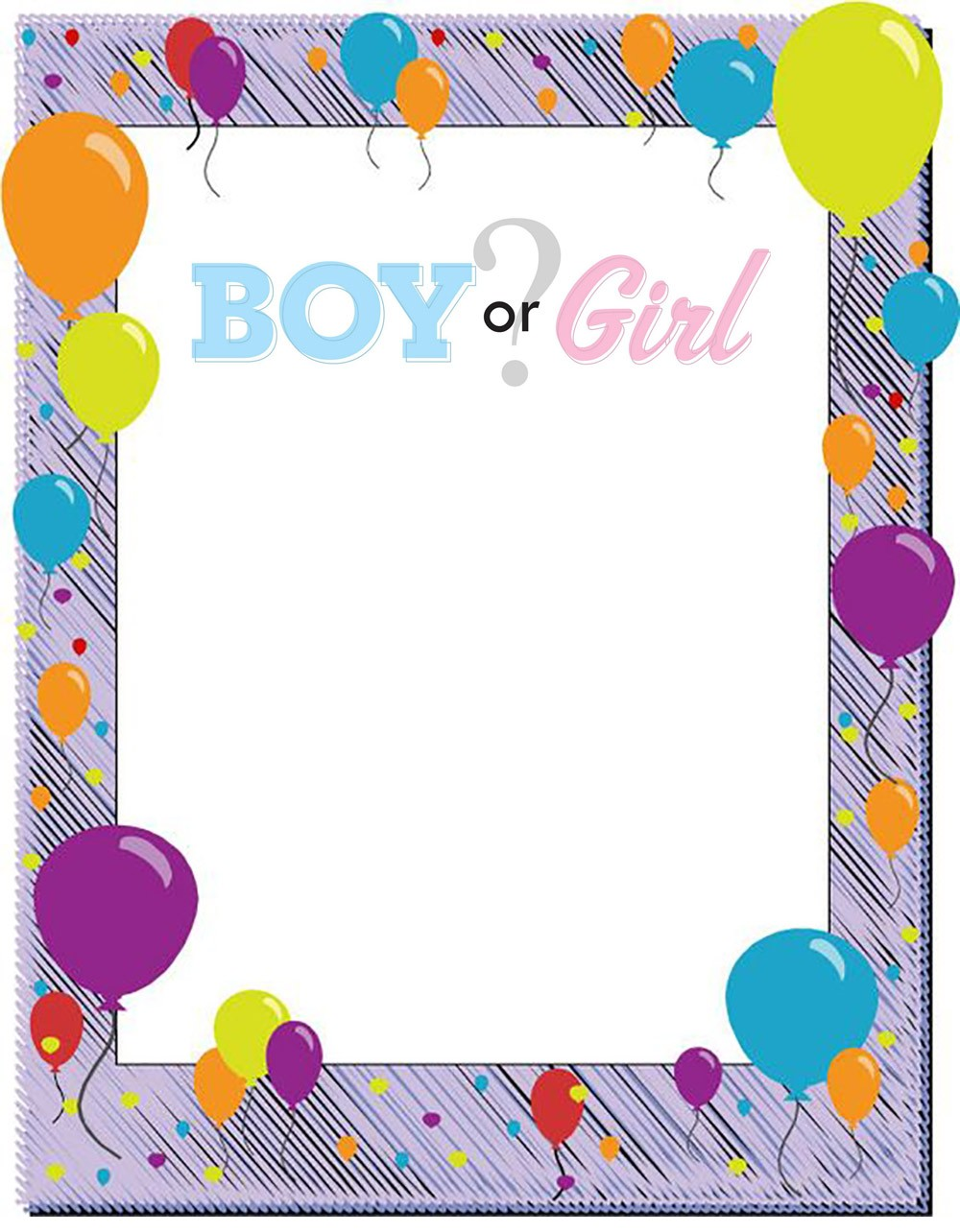 Boy or Girl Invitation Template