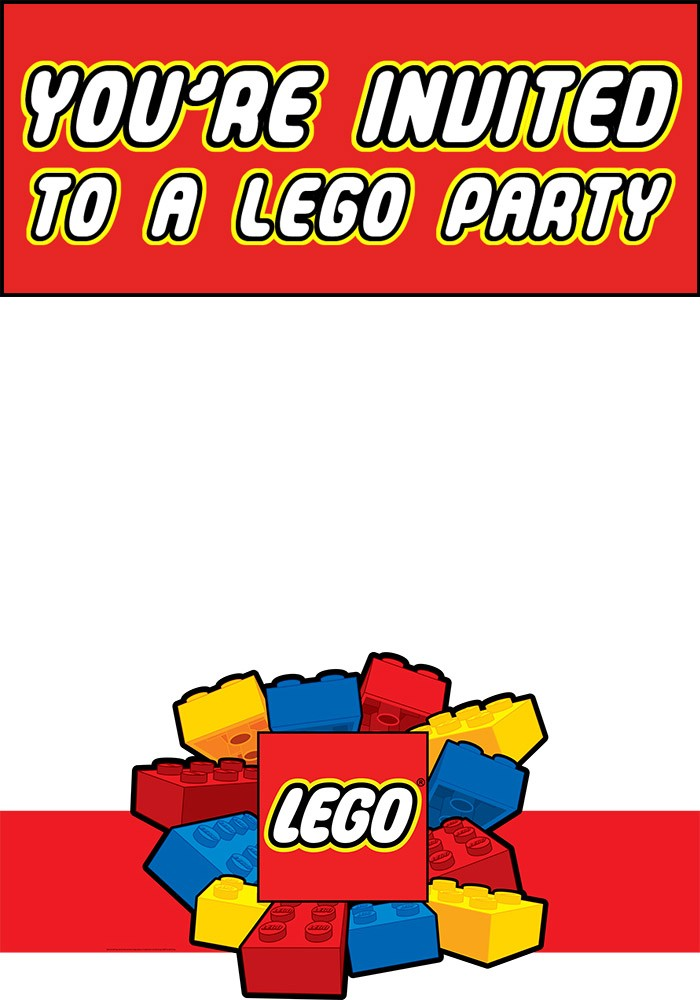 Free Printable Lego Invitation Templates – Lego Party Invitations Printable