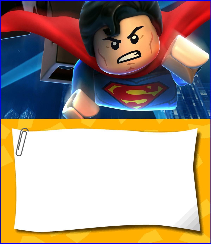 Free Printable Lego Superman Invitation Template Invitations Online