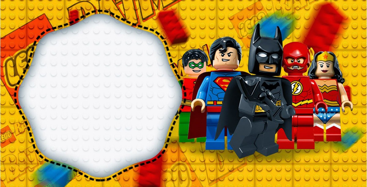 Lego Batman Birthday Invitation
