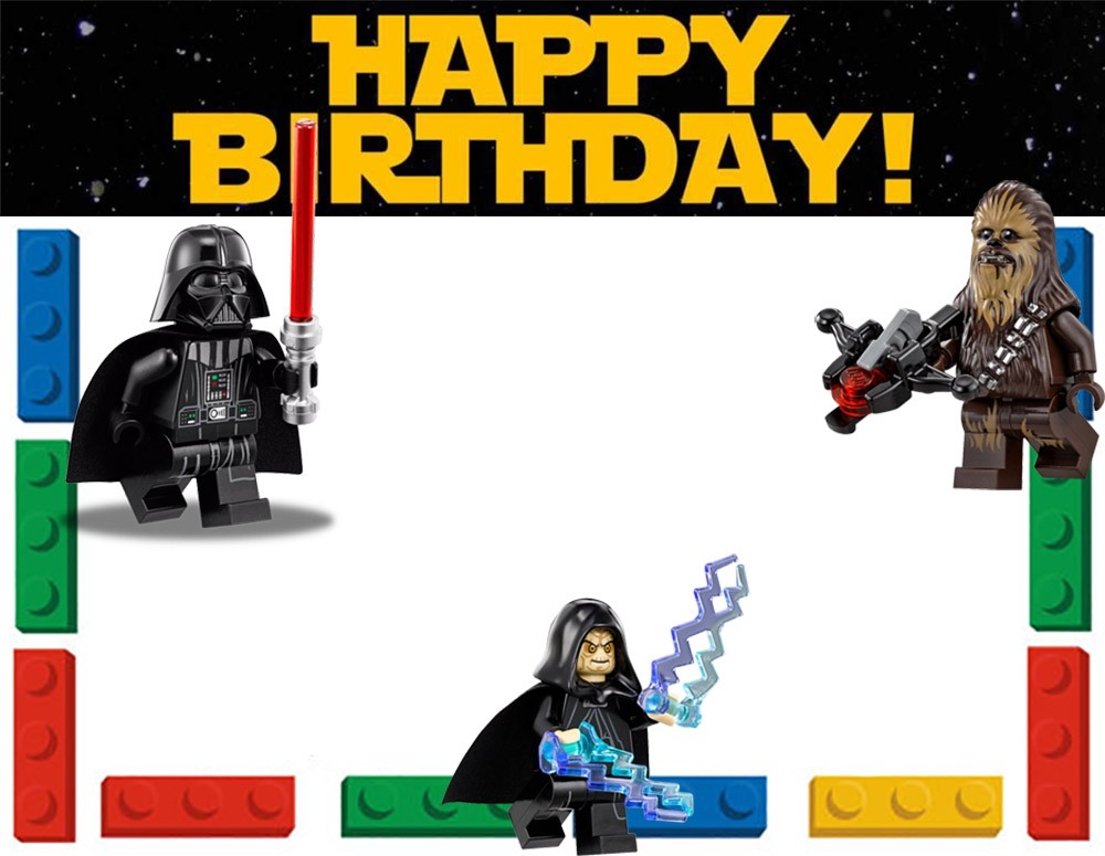 Lego Star Wars Birthday Invitation Template