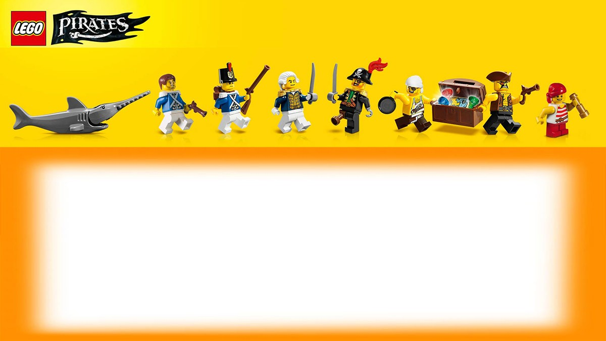 printable lego pirates invitation template