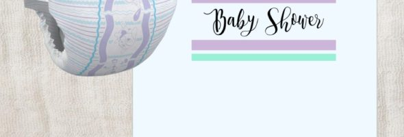 printable baby shower party invitation 590x200