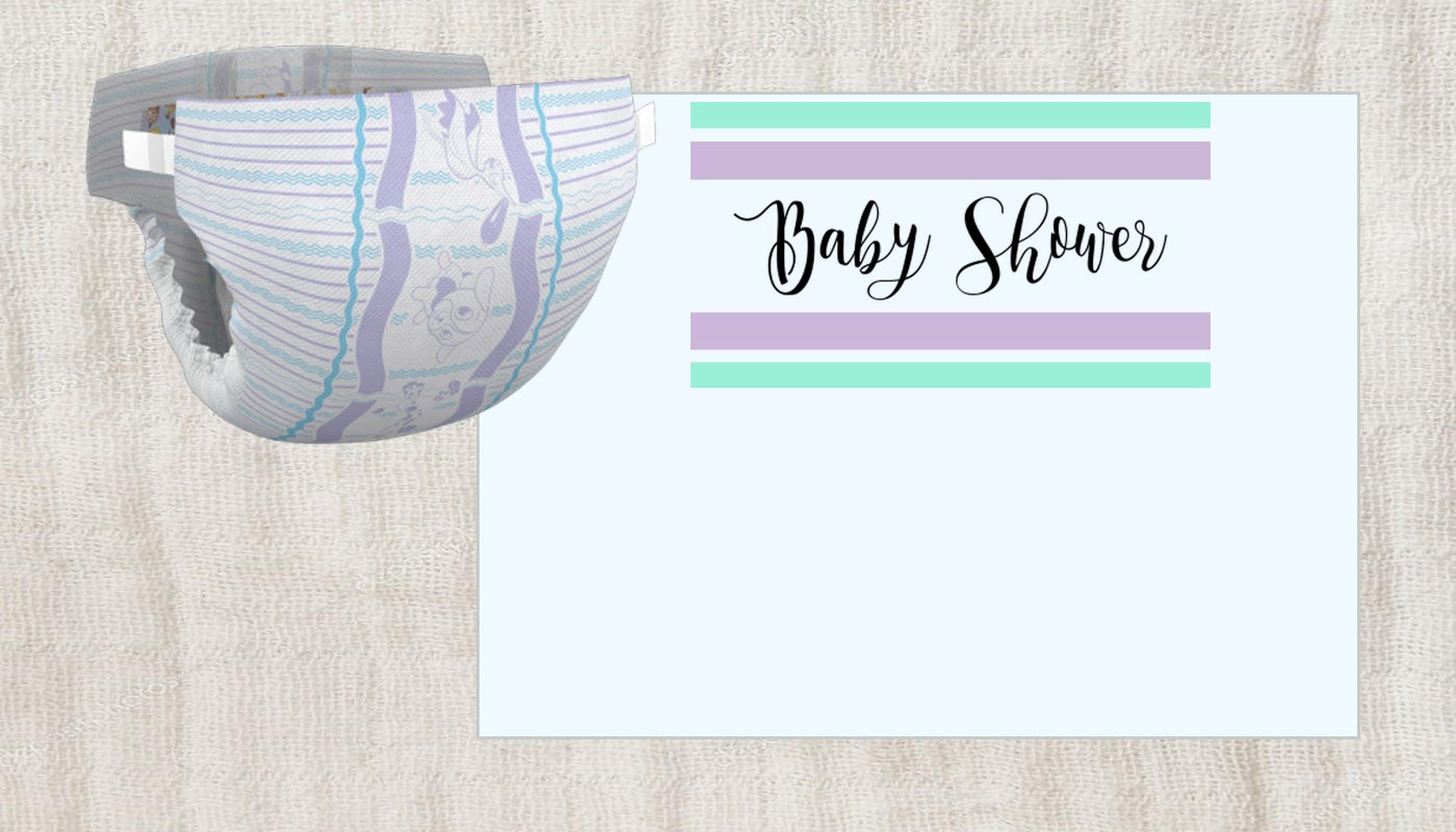 printable baby shower party invitation