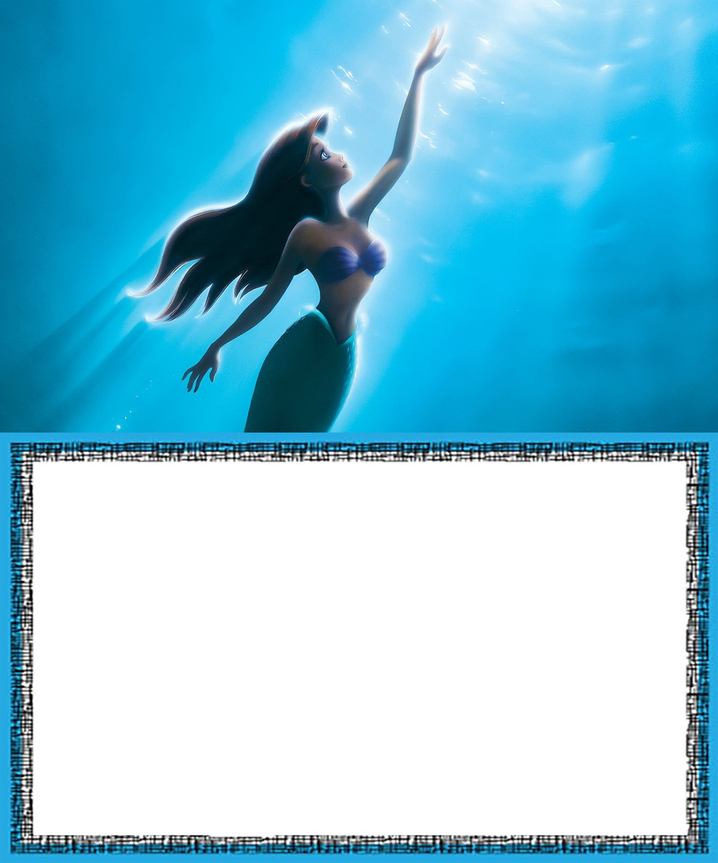 Free Little Mermaid Invitation Template