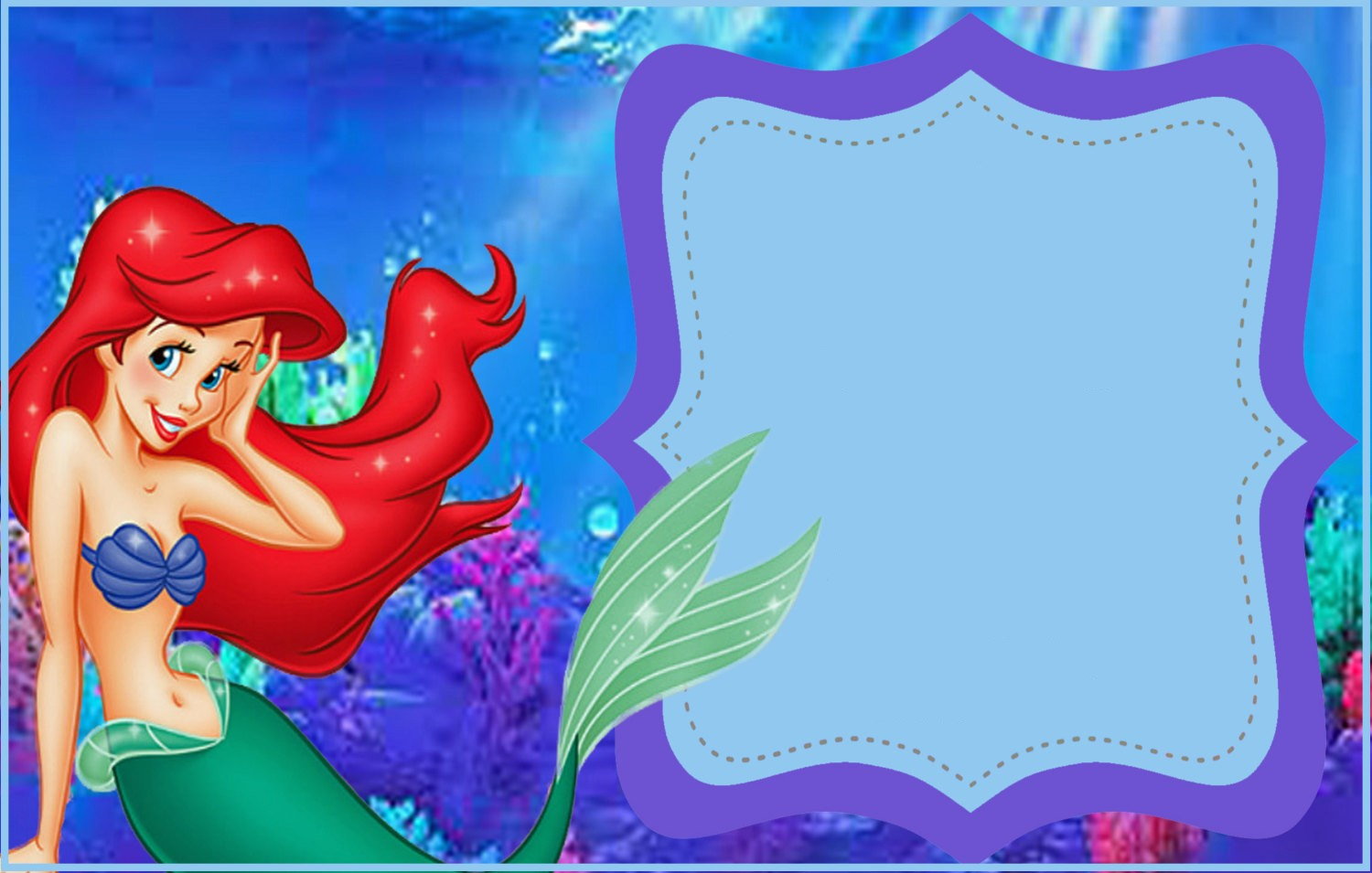 little mermaid invitation template mermaid free printable invitation templates 23454 | Free Printable Little Mermaid Invitation Template