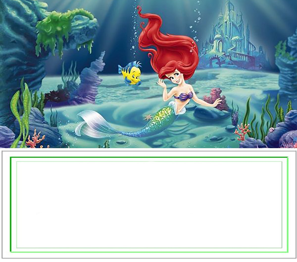 Free Printable Little Mermaid Party Invitation