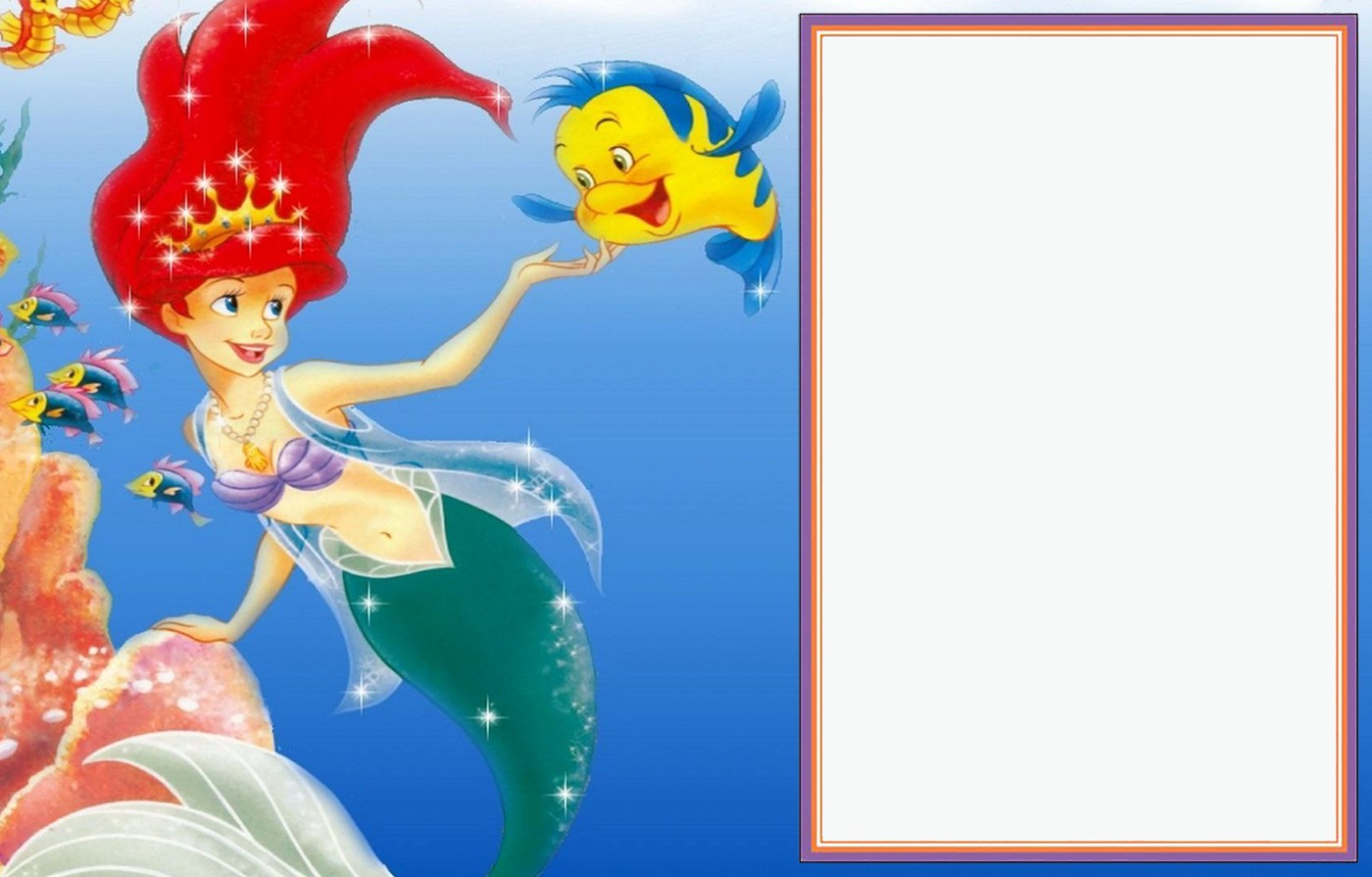 Little Mermaid Free Template