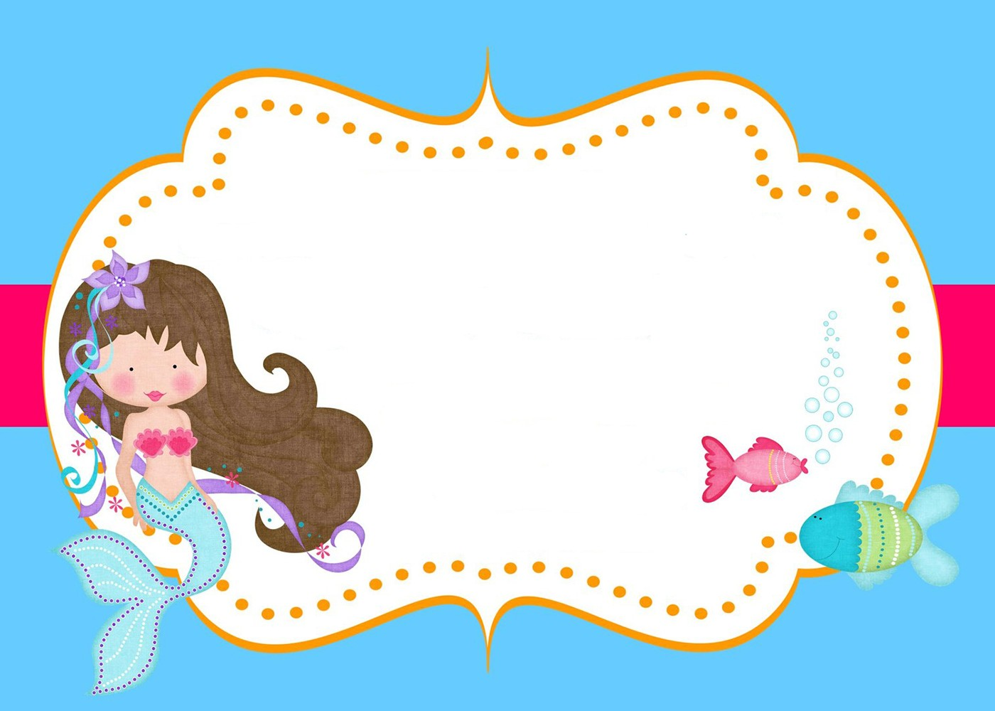 Little Mermaid Free Printable Invitation Templates ...