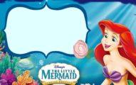 The Little Mermaid Invitation Template 191x120