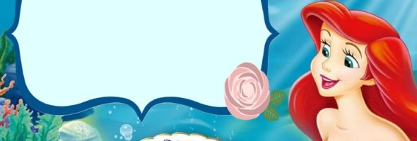 The Little Mermaid Invitation Template 590x200