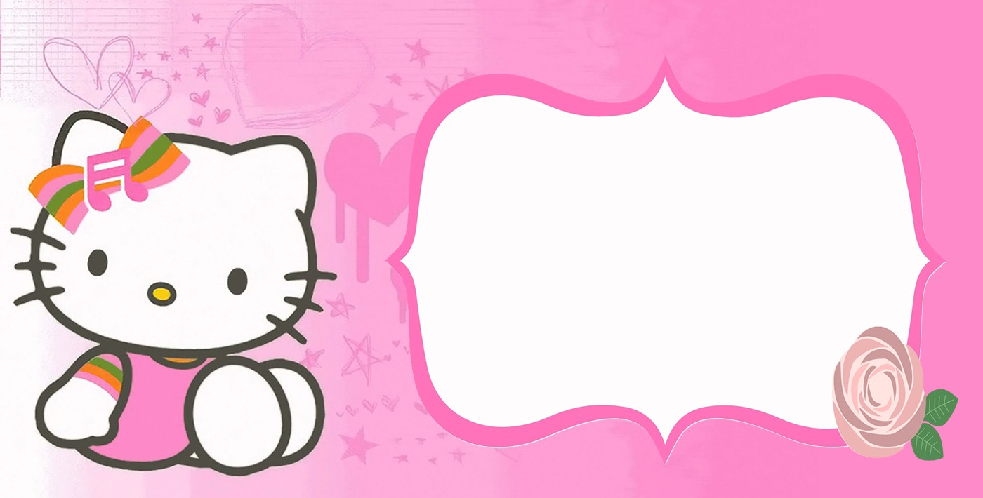 Hello kitty free printable invitation templates filmwisefo Image collections
