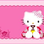 Cute Pink Hello Kitty Invitation Template 150x150