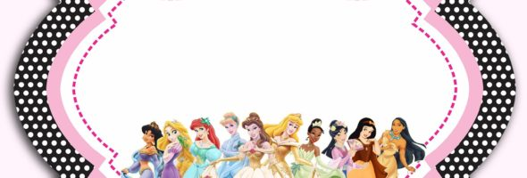 Disney Princesses Birthday Party Invitation 590x200