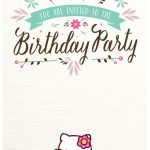 Free Hello Kitty Birthday Party Invitation 150x150