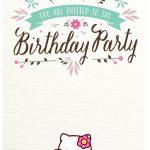 Free Hello Kitty Birthday Party Invitation 150x150