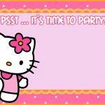 Free Hello Kitty Party Invitation 150x150