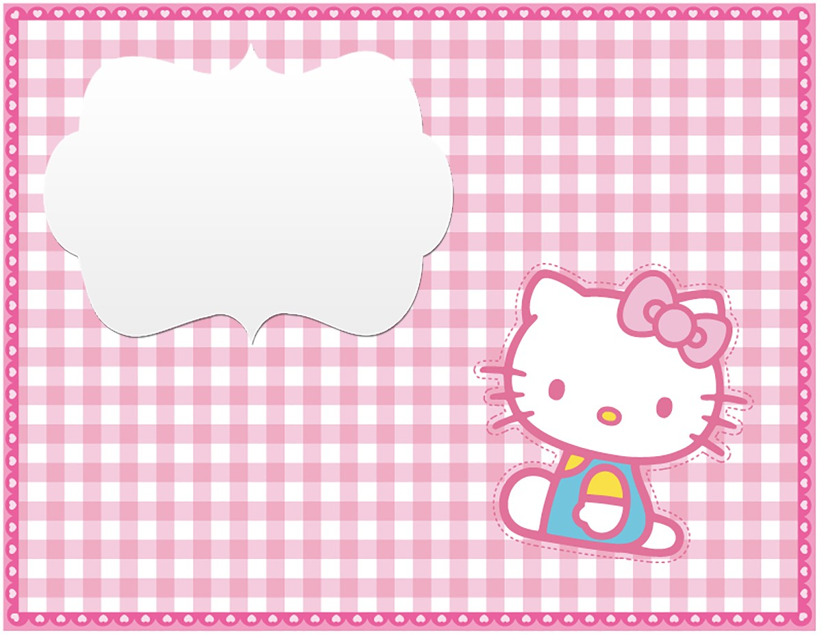 hello kitty free printable invitation templates