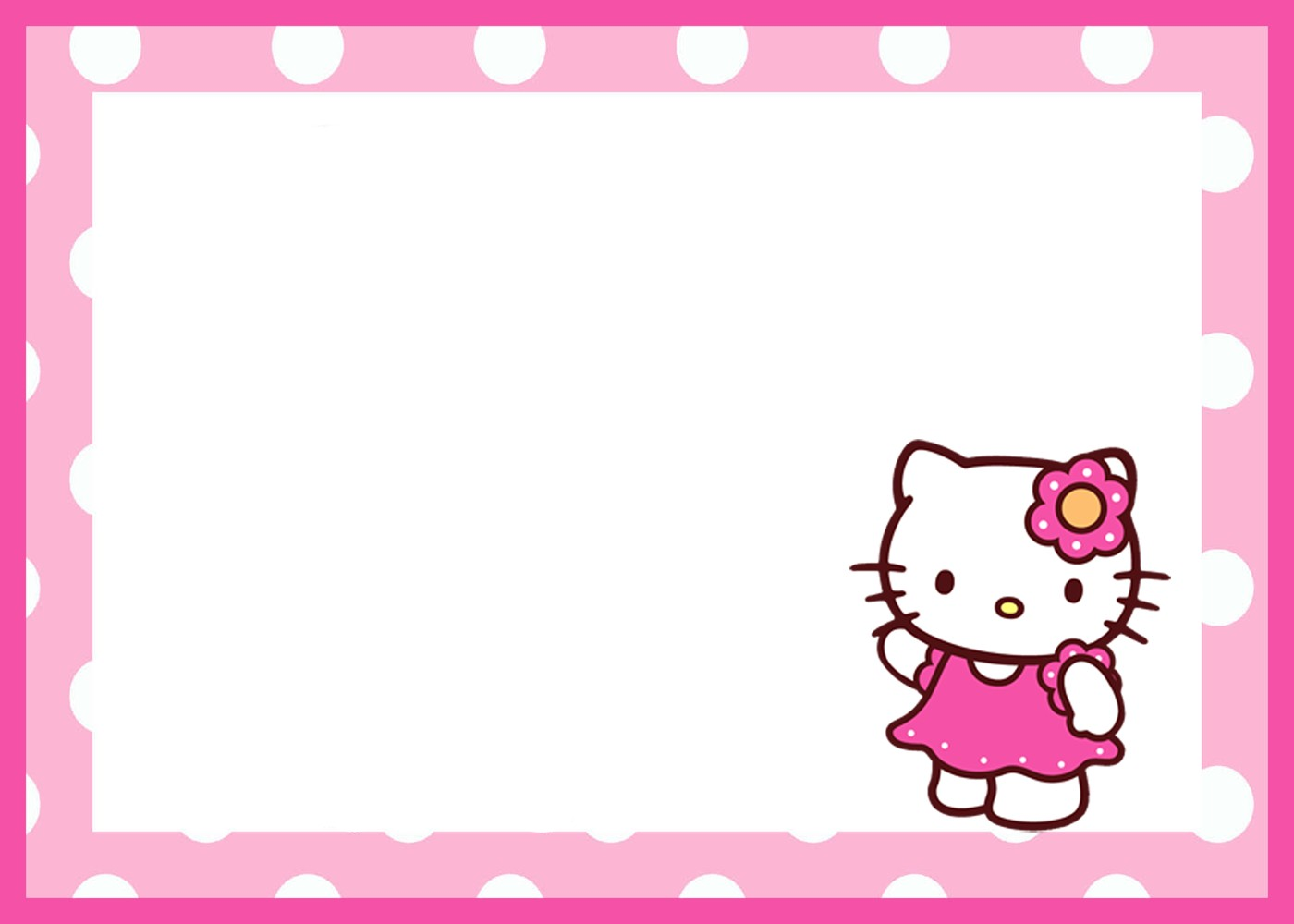 Hello Kitty Birthday Invitation Template | Invitations Online