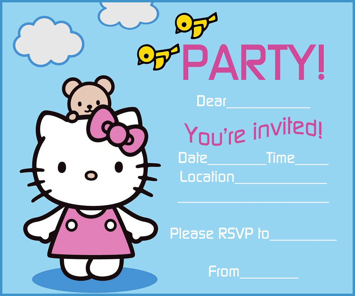Hello kitty free printable invitation templates hello kitty birthday party invitation template filmwisefo Image collections