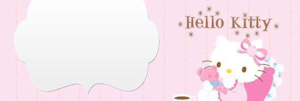 Hello Kitty Invitations 590x200
