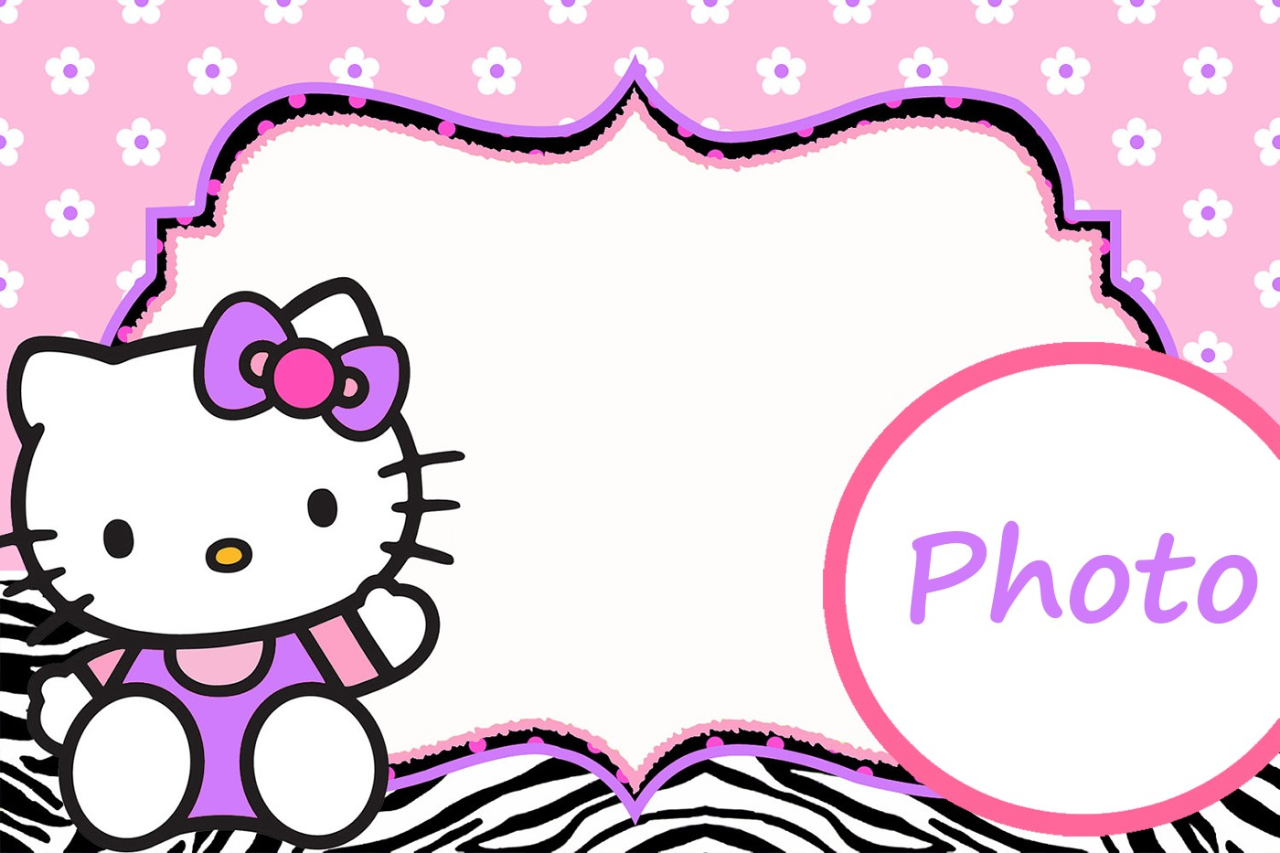 Personalized Hello Kitty Invitation Template | Invitations ...
