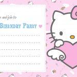 Printable Hello Kitty Birthday Party Invitation Card 150x150