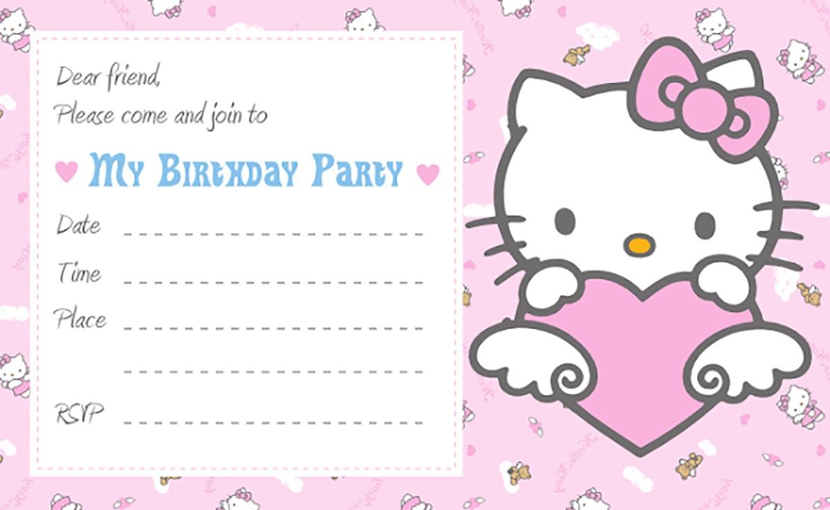 hello kitty free printable invitation templates