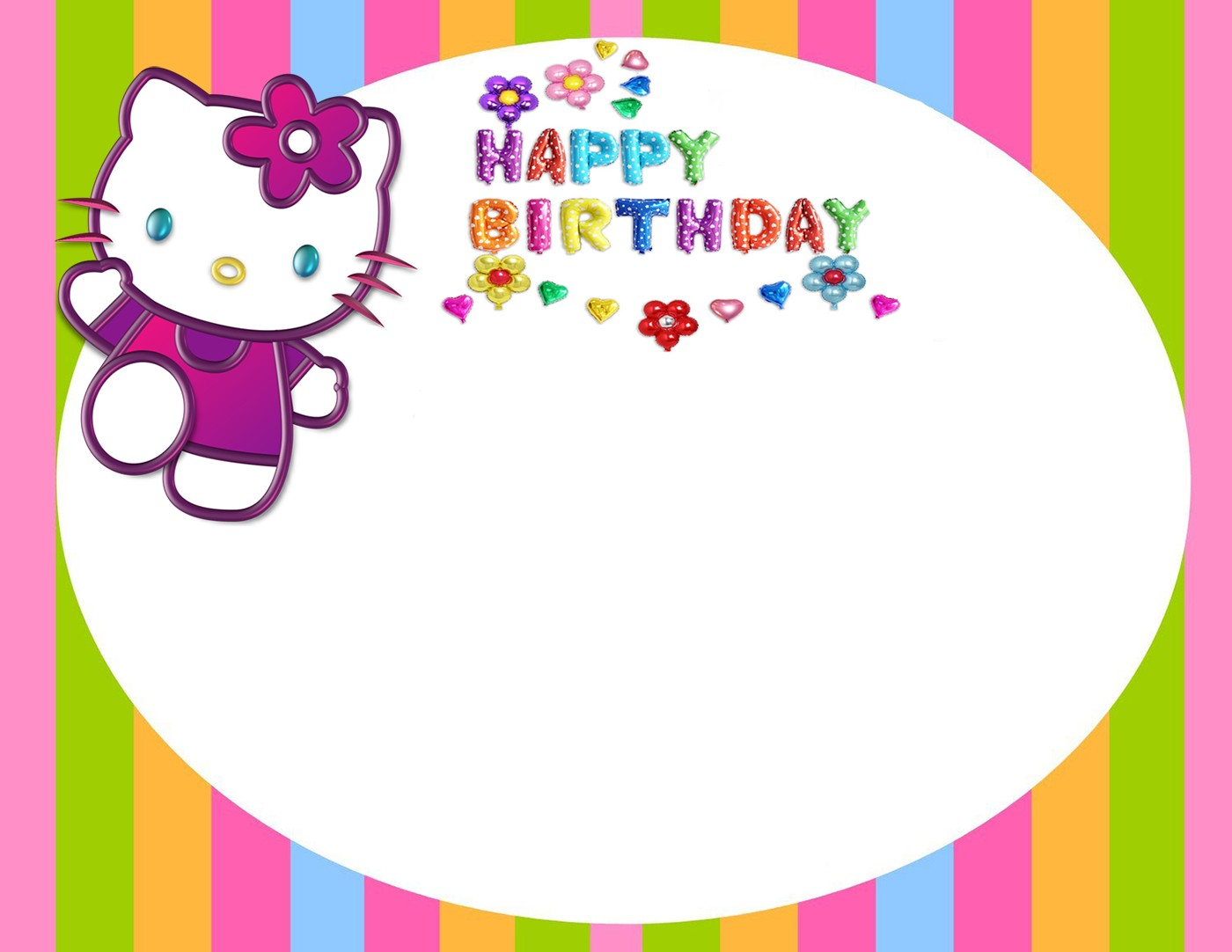 Printable Hello Kitty Invitation Card Invitations Online