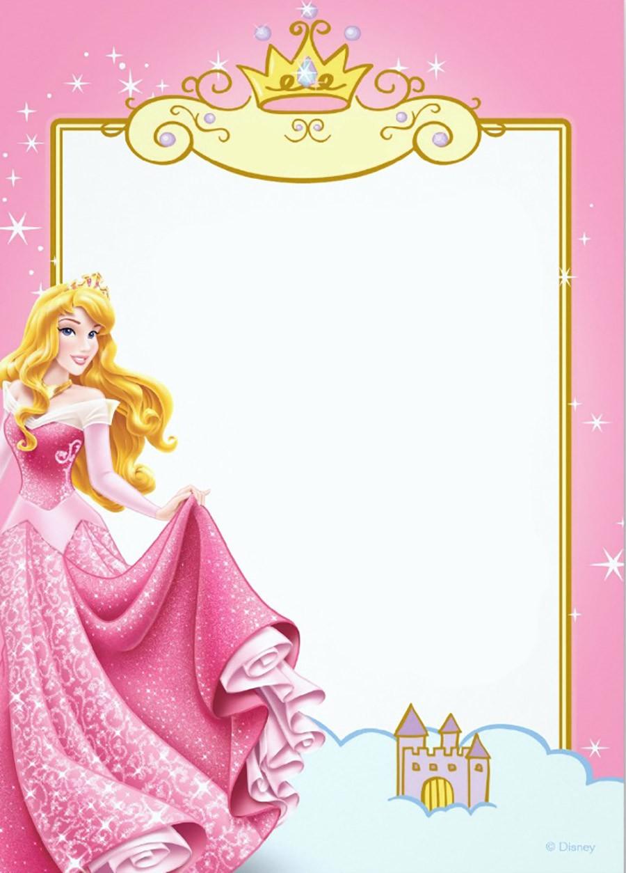 Free Printable Princess Invitation Templates Invitations