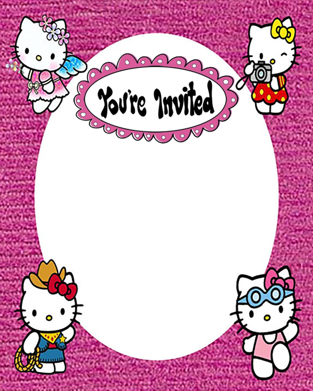Youre invited to Hello Kitty Birthday Party