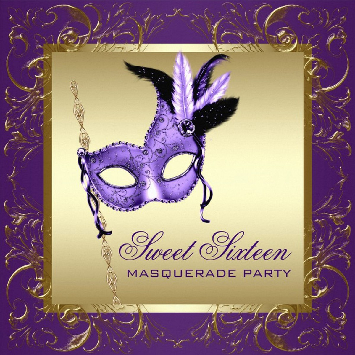 photograph relating to Free Printable Masquerade Invitations referred to as Free of charge Printable Masquerade Invitation Templates Invites