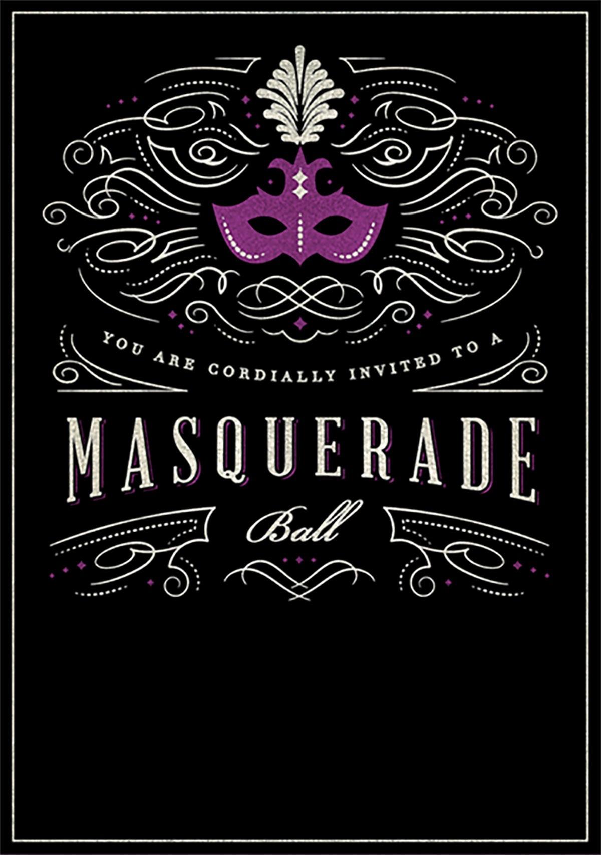 Printable Masquerade Birthday Invitation Template